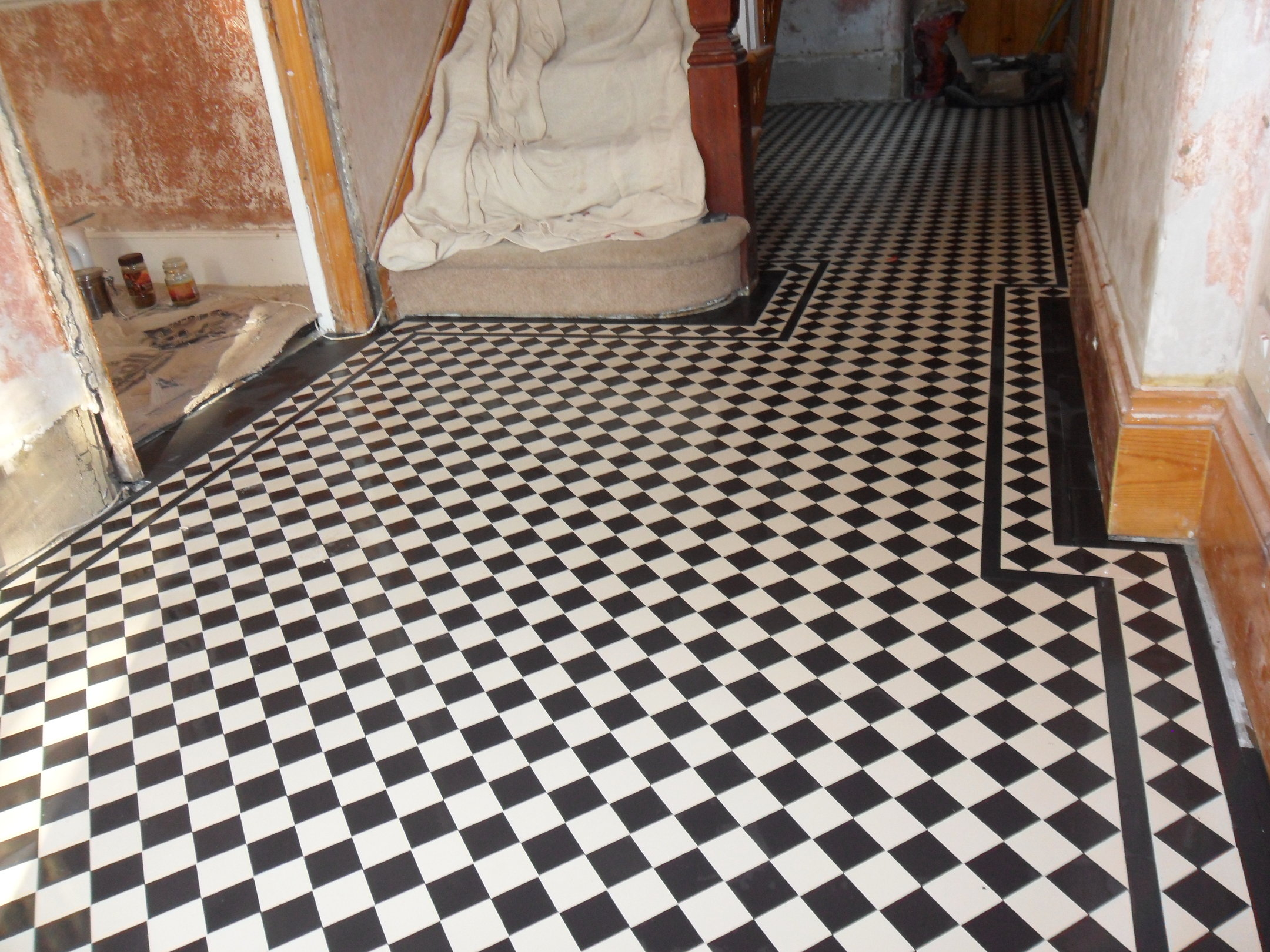 Victorian Geometric Tiled Hallways In London Hertfordshire