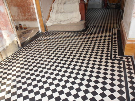How to lay Victorian tiles